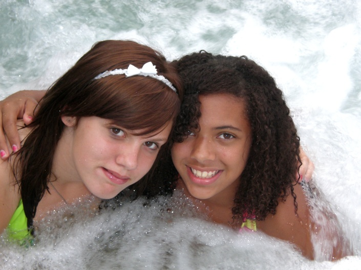 teens in a jacuzzi